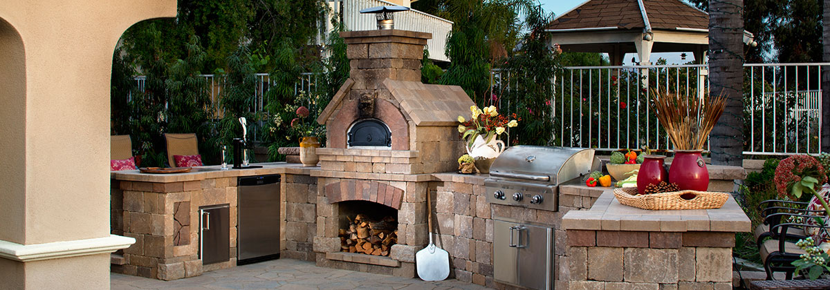 Brick oven beauty 02 american blue grass landscaping inc for Beauty stone fireplaces